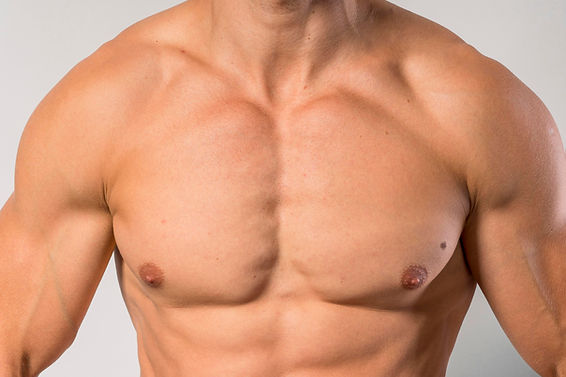 front-view-of-fit-shirtless-man-showing-