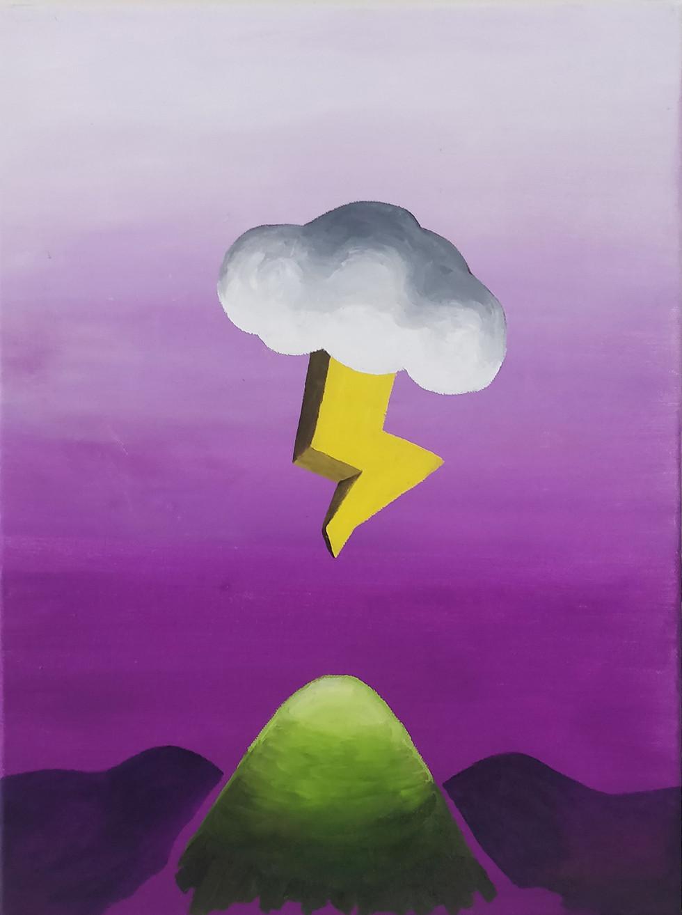 Recharging Mountain 2020   Oil on canvas.   40 cm x 30 cm x 2 cm  Contacts: hugolamip@gmail.com 00351913251338