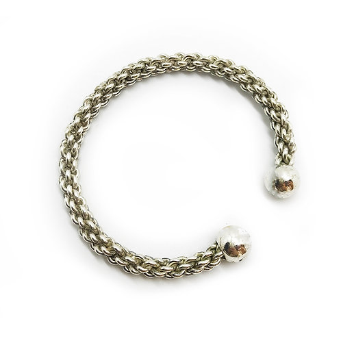 Bracelet tressage argent