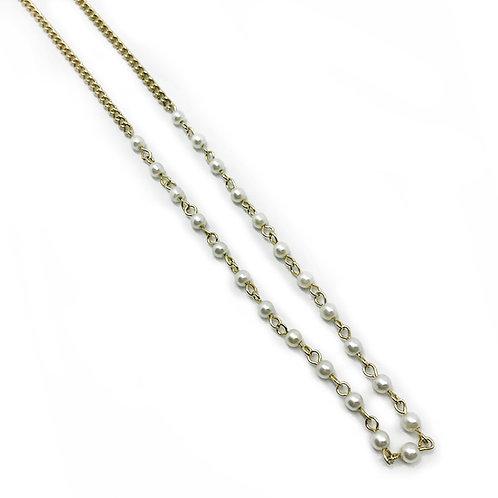 Collier chaîne et nacres