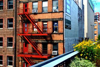 New York - Highline Fire Escape Ladder