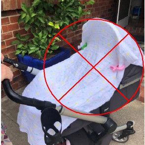 How safe is it to cover your pram with a blanket?