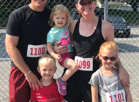 Rejoicing Family Running After Conquering Persistent Heel Pain