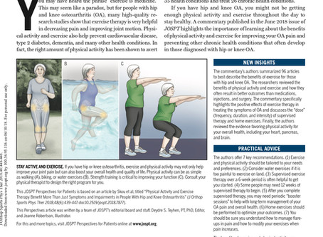 7 Key Exercise Recommendations for Hip & Knee Osteoarthritis