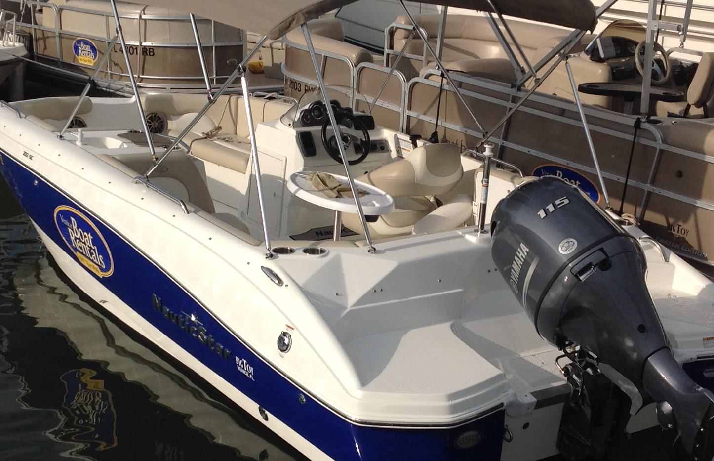 20' NauticStar Deck Boat