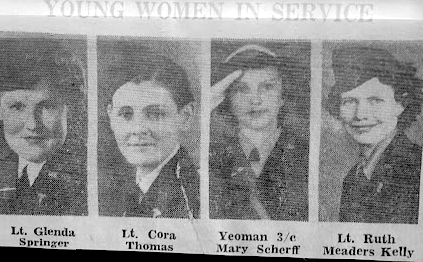 Young women in service