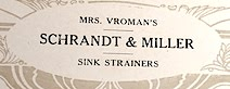 Mrs Vromans Sink Strainers