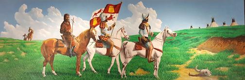 Coronado Comes to the Plains - 1541, by Ernest Ochsner