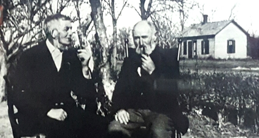 John Laurie and James Waddell in 1867