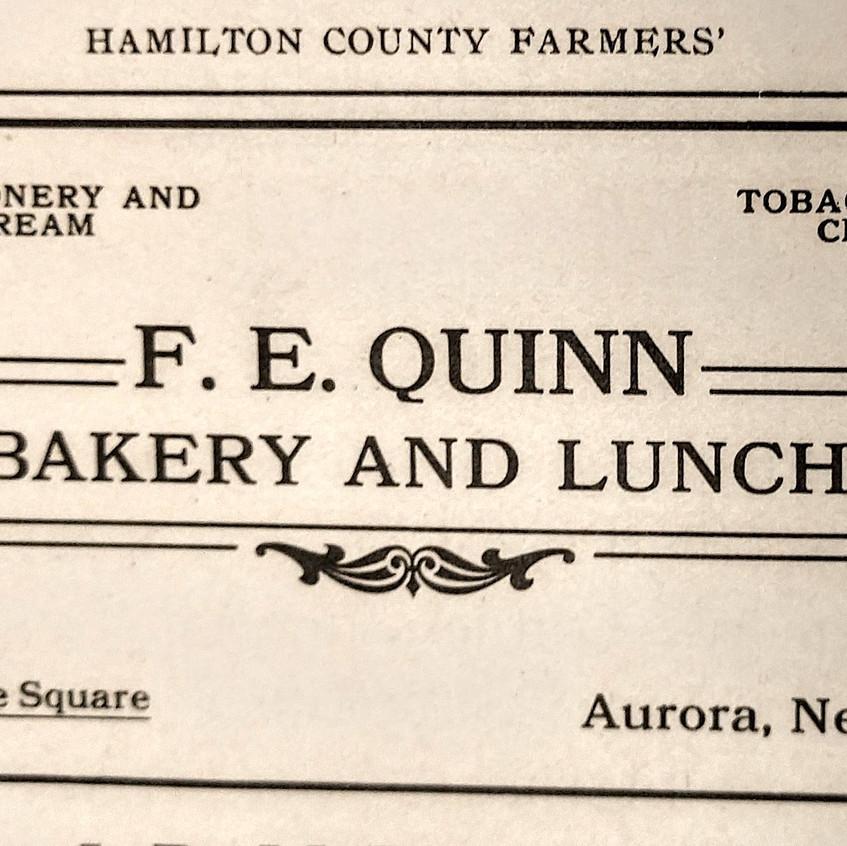 FE Quinn Ad in 1906 HC directory