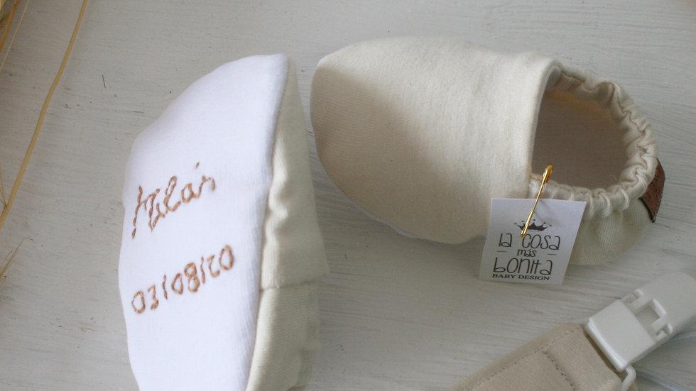 Conjunto basic personalizado (Zapatitos basic +  chupetero)