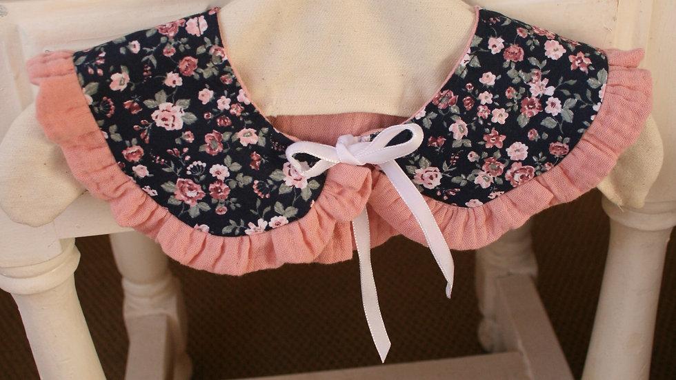 Cuello romantic/muselina rosa (de quita y pon)