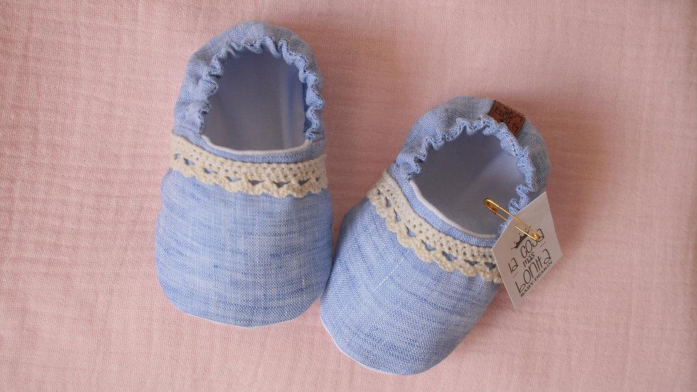 Azulados con puntilla