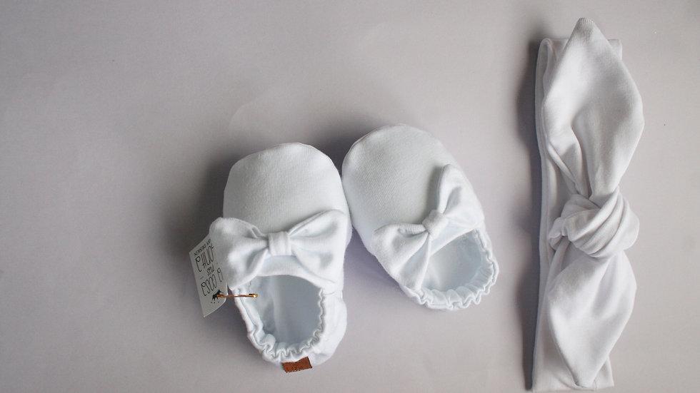 Blanco con lazo + diadema