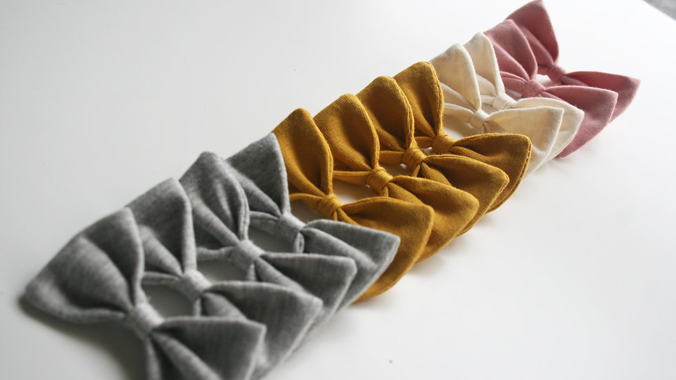 Lazo LITTLE algodón liso para pelo