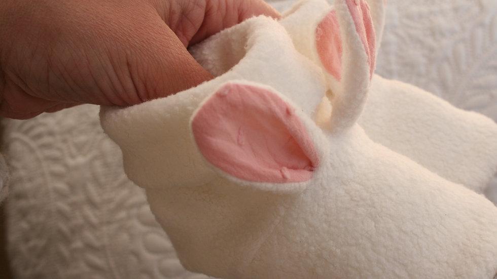 Botitas conejo orejas rosa