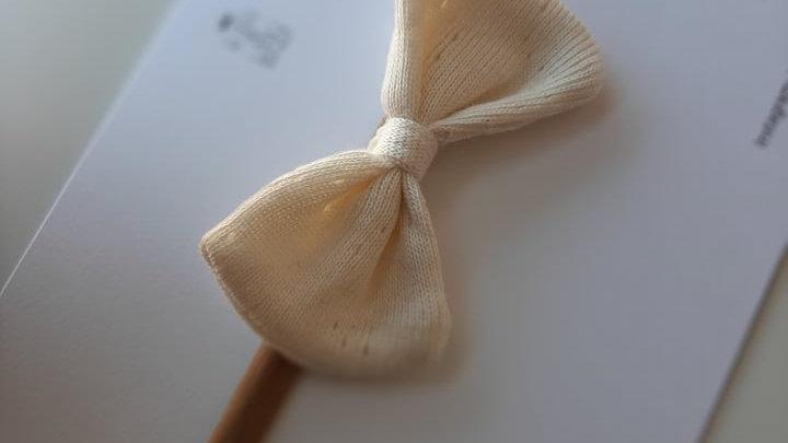 Lazo LITTLE algodón caladito para pelo