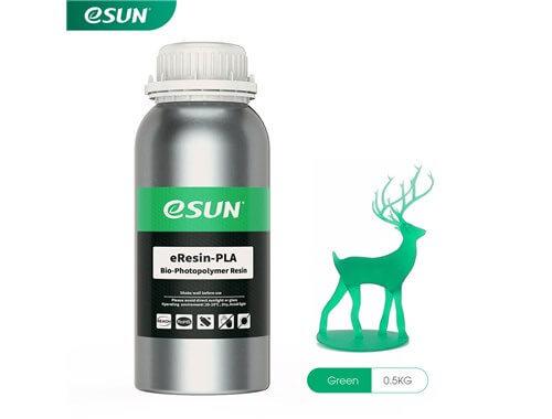 בקבוק שרף איכותי בצבע ירוק מתוצרת esun מסוג Bio-pla