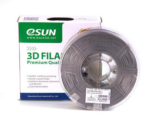 גליל פילמנט איכותי מתוצרת Esun מסוג ABS בצבע כסף