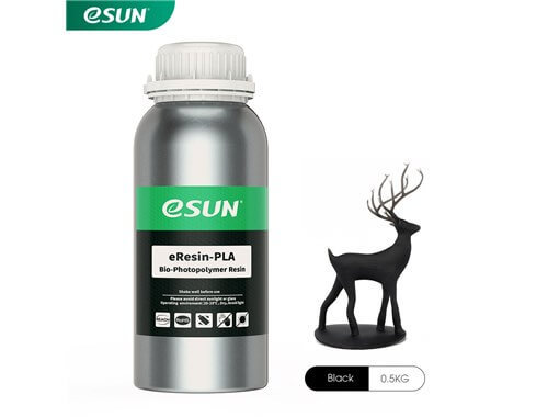 בקבוק שרף איכותי בצבע שחור מתוצרת esun מסוג Bio-pla