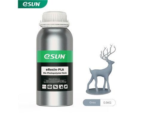 בקבוק שרף איכותי בצבע אפור מתוצרת esun מסוג Bio-pla