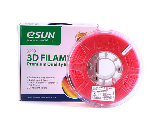 גליל פילמנט איכותי מתוצרת Esun מסוג PLA+ בצבע מג'נטה
