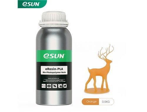 בקבוק שרף איכותי בצבע כתום מתוצרת esun מסוג Bio-pla