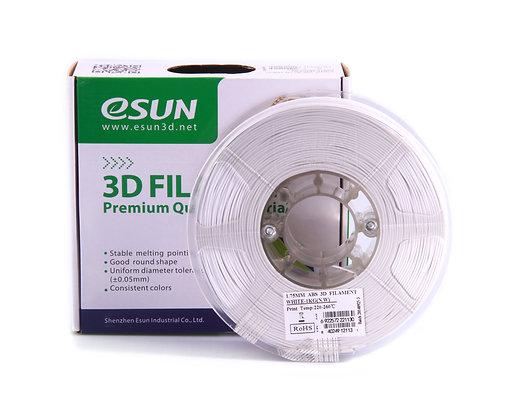 גליל פילמנט איכותי מתוצרת Esun מסוג ABS+ בצבע לבן קר