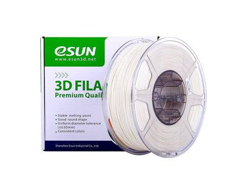 גליל פילמנט איכותי מתוצרת eSun מסוג ABS Max בצבע לבן