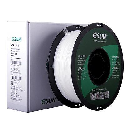 גליל פילמנט איכותי מתוצרת eSUN מסוג eTPU-95A בצבע לבן