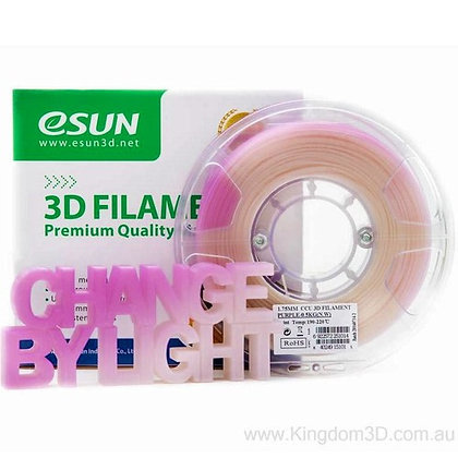 גליל פילמנט איכותי מתוצרת eSUN המשנה צבע לסגול ורוד באור