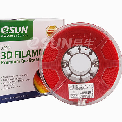 גליל פילמנט איכותי מתוצרת Esun מסוג PETG בצבע אדום