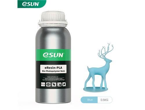 בקבוק שרף איכותי בצבע תכלת מתוצרת esun מסוג Bio-pla
