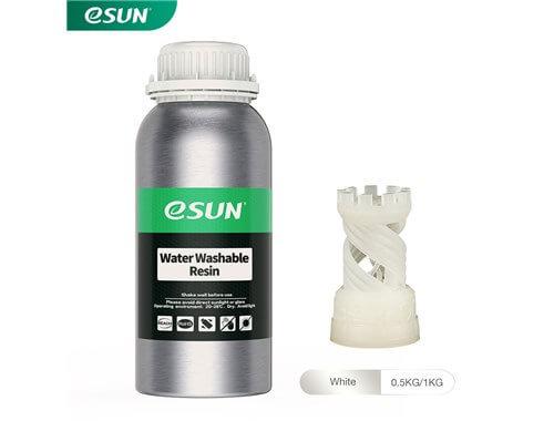 בקבוק שרף איכותי שטיף במים בצבע לבן מתוצרת eSUN למדפסות DLP/SLA