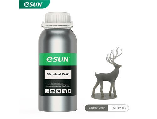 בקבוק שרף איכותי בצבע אפור מתוצרת eSUN למדפסות DLP/SLA