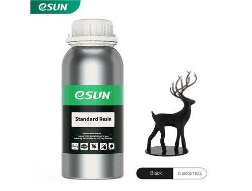 בקבוק שרף איכותי בצבע שחור מתוצרת eSUN למדפסות DLP/SLA