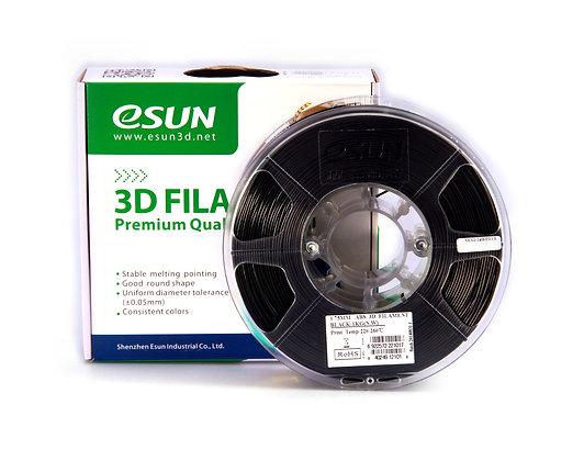 גליל פילמנט איכותי מתוצרת Esun מסוג ABS+ בצבע שחור
