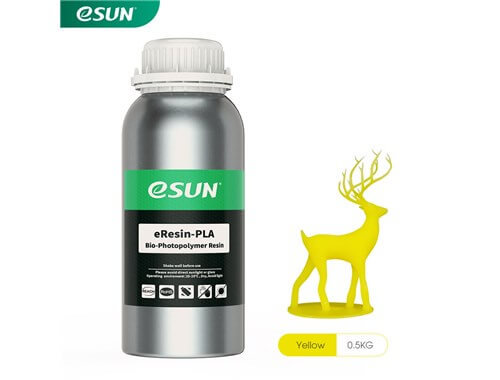 בקבוק שרף איכותי בצבע צהוב מתוצרת esun מסוג Bio-pla