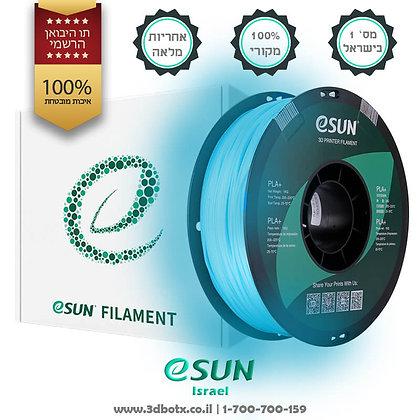 גליל פילמנט איכותי מתוצרת Esun מסוג PLA+ בצבע כחול זוהר בחושך
