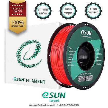 גליל פילמנט איכותי מתוצרת Esun מסוג PLA+ בצבע אדום