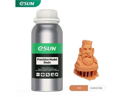 בקבוק שרף איכותי למודלים מדוייקים בצבע כתום בהיר מתוצרת eSUN למדפסות DLP/SLA