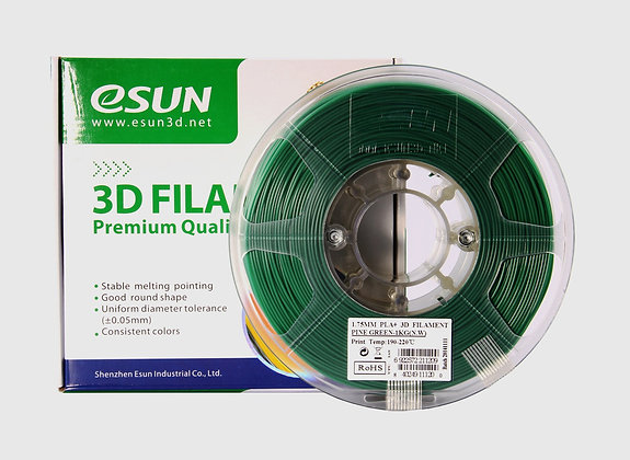 גליל פילמנט איכותי מתוצרת Esun מסוג ABS+ בצבע ירוק אורן