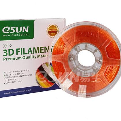 גליל פילמנט איכותי מתוצרת Esun מסוג PETG בצבע כתום שקוף