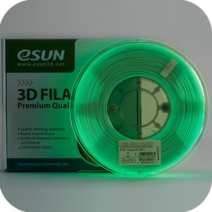 גליל פילמנט איכותי מתוצרת Esun מסוג PLA+ בצבע ירוק זוהר בחושך