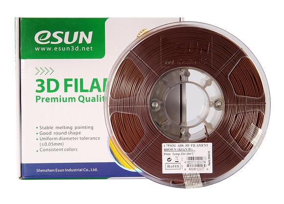 גליל פילמנט איכותי מתוצרת Esun מסוג ABS בצבע חום
