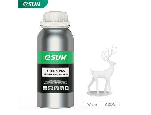 בקבוק שרף איכותי בצבע לבן מתוצרת esun מסוג Bio-pla
