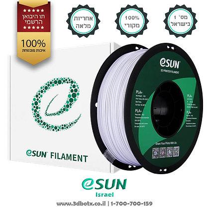גליל פילמנט איכותי מתוצרת Esun מסוג PLA+ בצבע לבן קר