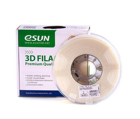 גליל פילמנט איכותי מתוצרת Esun מסוג ABS+ בצבע טבעי