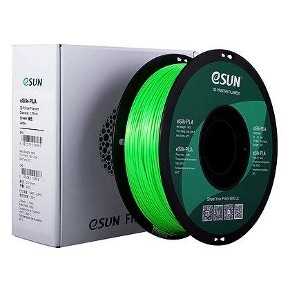 גליל פילמנט איכותי מתוצרת eSUN מסוג eSilk-PLA בצבע ירוק