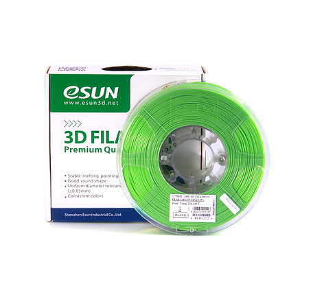 גליל פילמנט איכותי מתוצרת Esun מסוג ABS+ בצבע ירוק בהיר